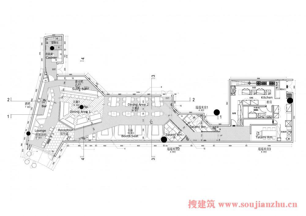 上海·haiku寿司店 搜建筑网公共建筑设计资料中心