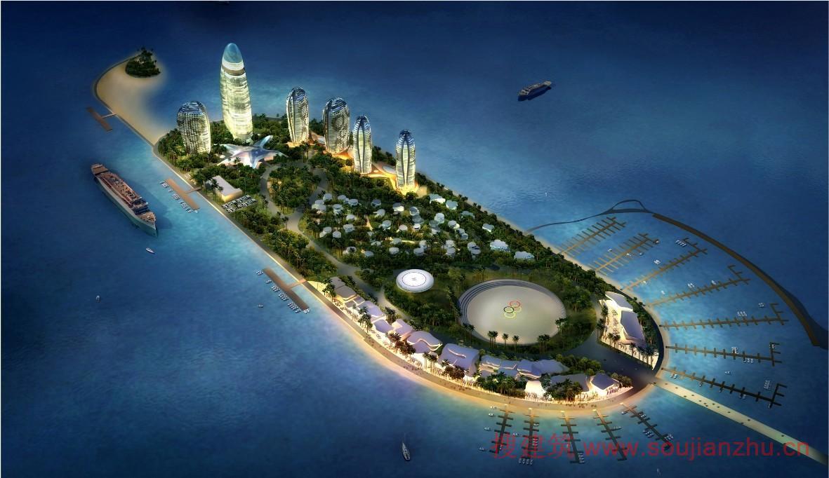三亚·凤凰岛 搜建筑网公共建筑设计资料中心