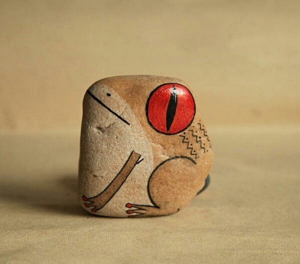 石头手工制作动物