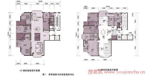 改善中部空间通风状况; (2)卧室区增设内廊,改变卧室入口方向,增加了图片