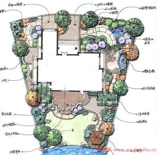 庭院景观设计平面图