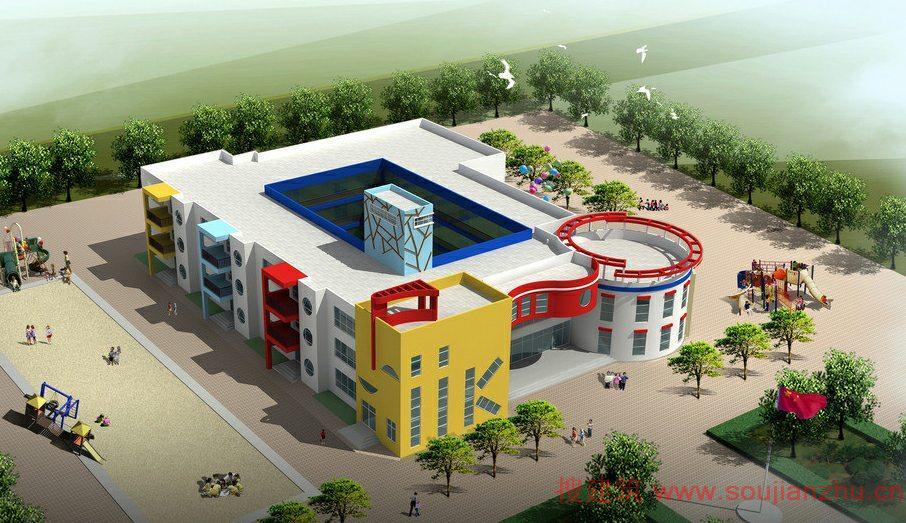 幼儿园建筑房子步骤图