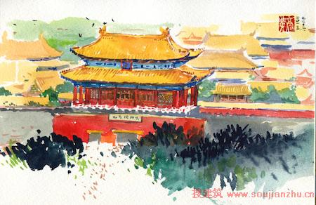 叫板建筑师!手绘北京城