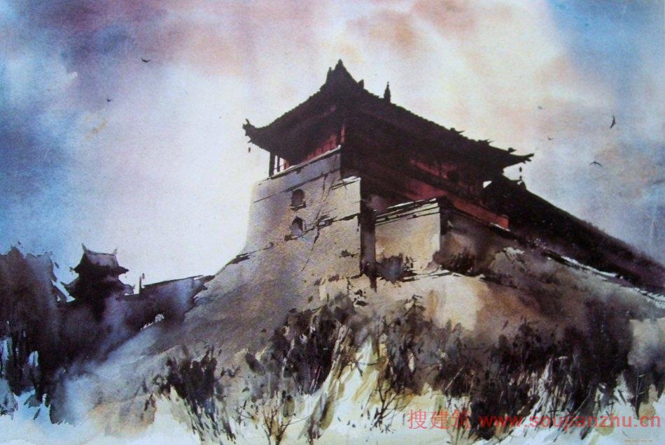 清华大学建筑学院 美术研究所副教授:高冬教授水彩