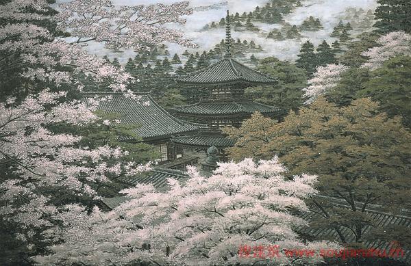 绝赞的日本手绘寺庙,有谁知道作者是谁吗?