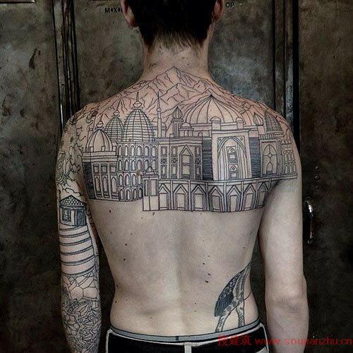 看设计师怎么玩建筑纹身