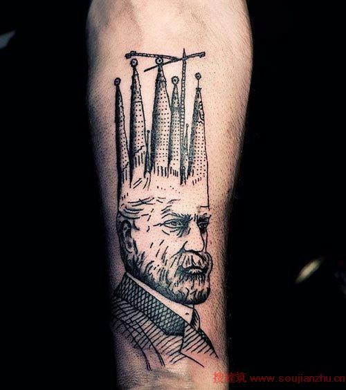 包腿龙纹身手稿 高迪纹身花臂