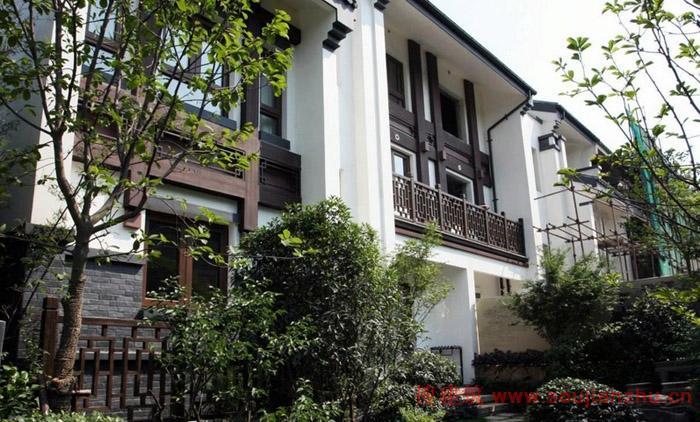 建筑布局引入中式庭院生活理念图片