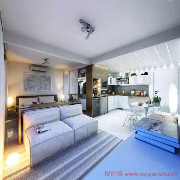 更为紧凑,精致,设计合理的小公寓户型(附平面图)