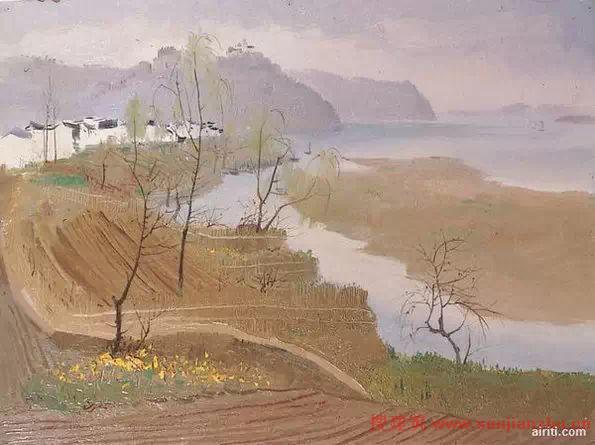 从70年代起,吴冠中渐渐兼事中国画创作.   他的水墨画构思