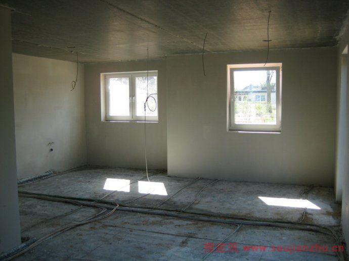 室内墙面抹灰施工现场局部
