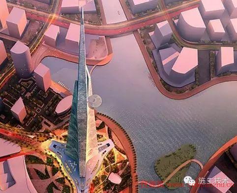 """在建世界第一高楼""""沙特王国塔""""施工过程"""