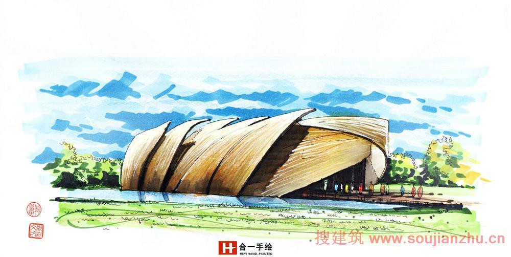 神奇的本领!手绘建筑比实景有美感!
