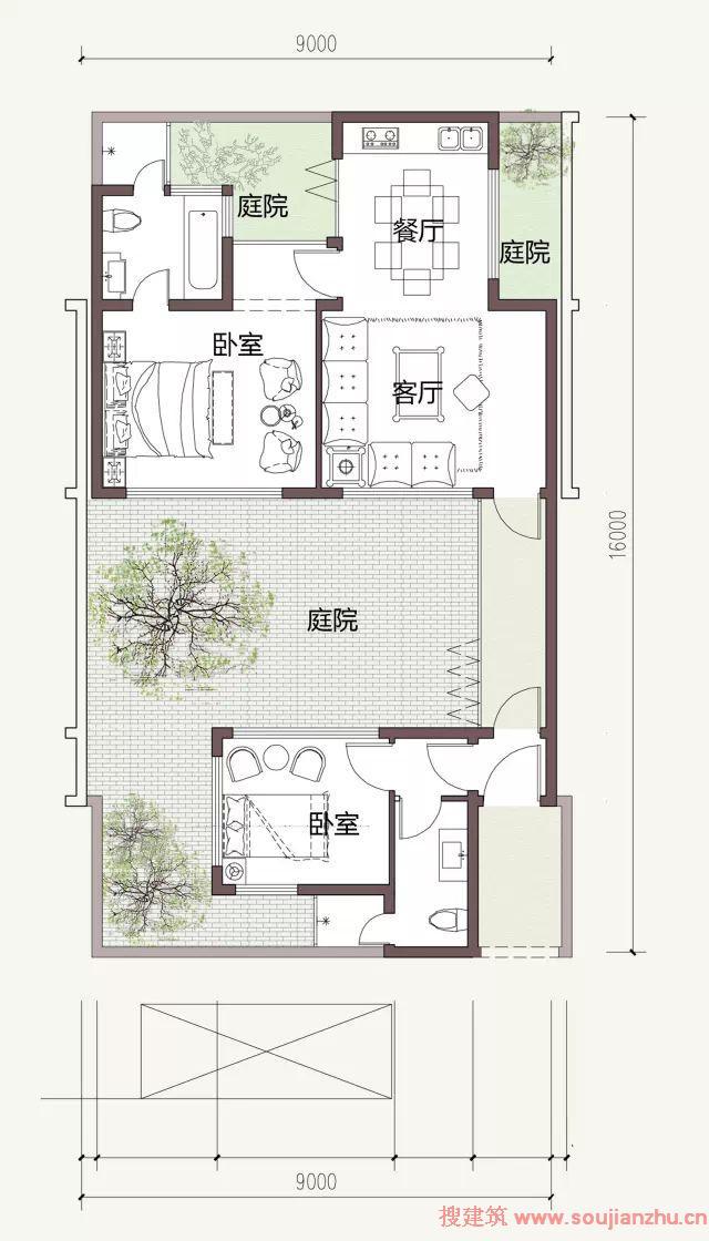 奇的户型是如何设计出来的 史上最小别墅 仅83平 附平面图