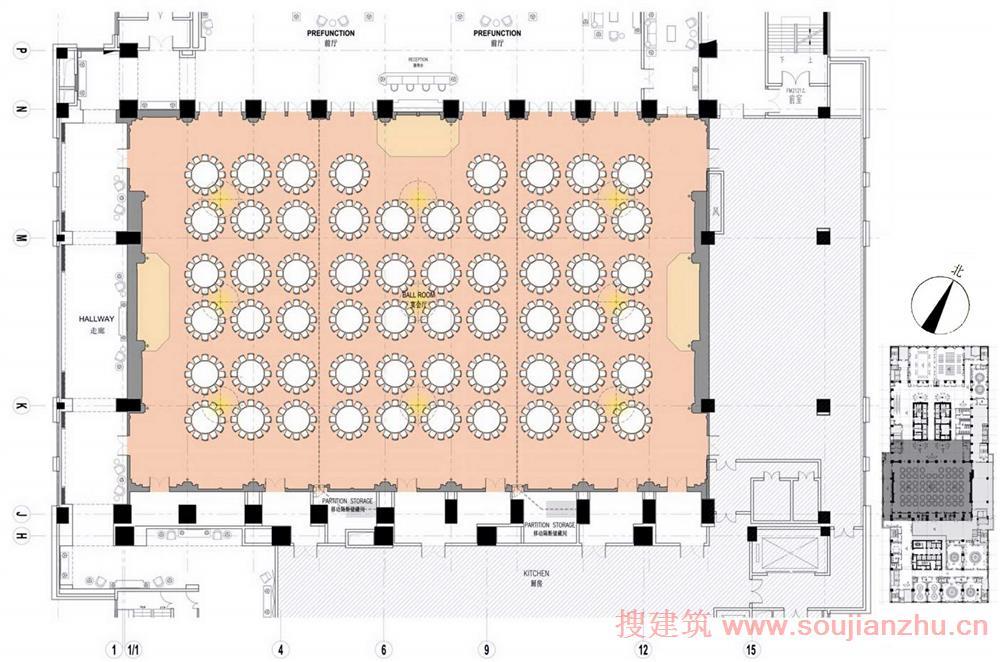 酒店大堂家具平面图: