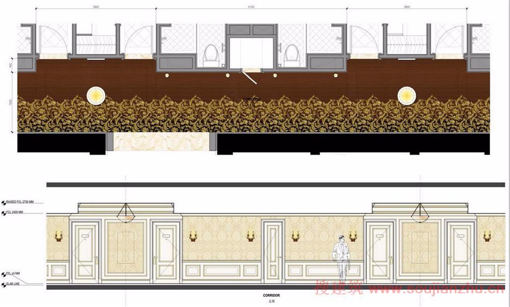 欧式家具彩色立面图