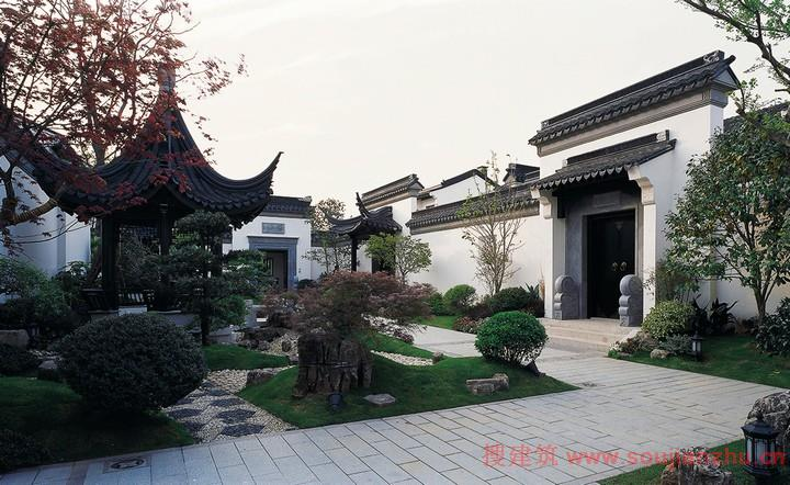 2-3层的苏州园林式宅院
