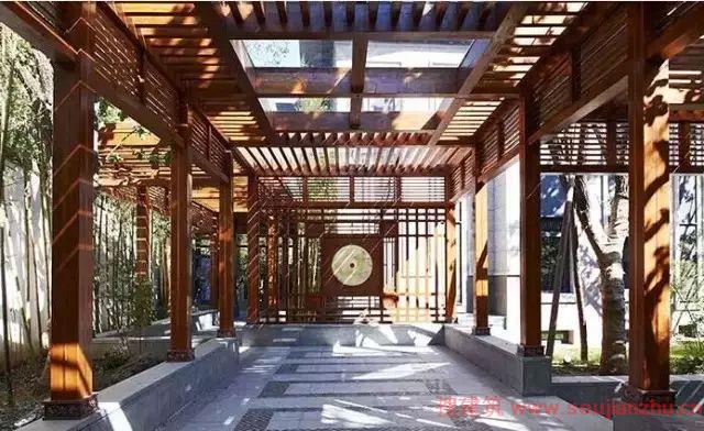 新中式建筑中的景观手法图片