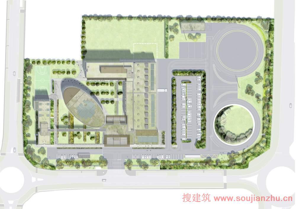 建筑师:Arte Charpentier Architectes 地点:法国 面积:87OO万平方米 年份:2012 该项目是由Arte Charpentier Architectes设计的,位于里昂的东部郊区。这个创新和谐的校园设有环境、能源、交通、损耗、水务部门的专业培训中心。其目的是反应该区域的环境问题。市场位于校园中心,连接到接待处和游乐区:公共休息室,150个座位的礼堂和一个培训中心组成工作区,还有教室和办公室。 该建筑是在法国规范的认证服务行业建筑(HQE,BBC级),满足能源消耗的