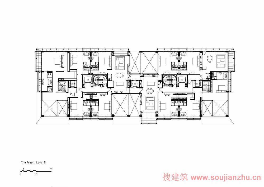 5坐东向西住宅平面设计图展示
