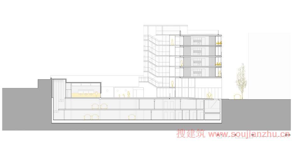 西班牙· barceloneta区公寓大楼和学习中心--- ec compta arquitecte