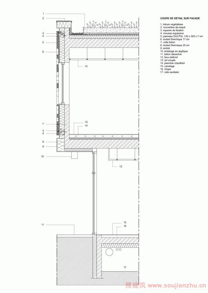 建筑师:Heams et Michel 地点:法国 面积:1050平方米 设计利用了自然边坡的土地管理带来了有步骤混合在两个不同的水平。公共空间的分布从水平的道路和开放的室外公共空间完全。一楼设有悬挑,房间内独具其材料和它的线脚。它包含有关儿童早期的程序。这个假平形状停车和外面的楼梯提供托儿所和是一个两个层面之间的联系。交货是在对面的访问。这个建筑是固定在底坡的山。它可以吸收一些坡度的土地。它参与网站设计。它的屋顶种植和减少三个彩色的露台的自然扩展成为周围的景观。明显从大路,它假设其作为第五立面