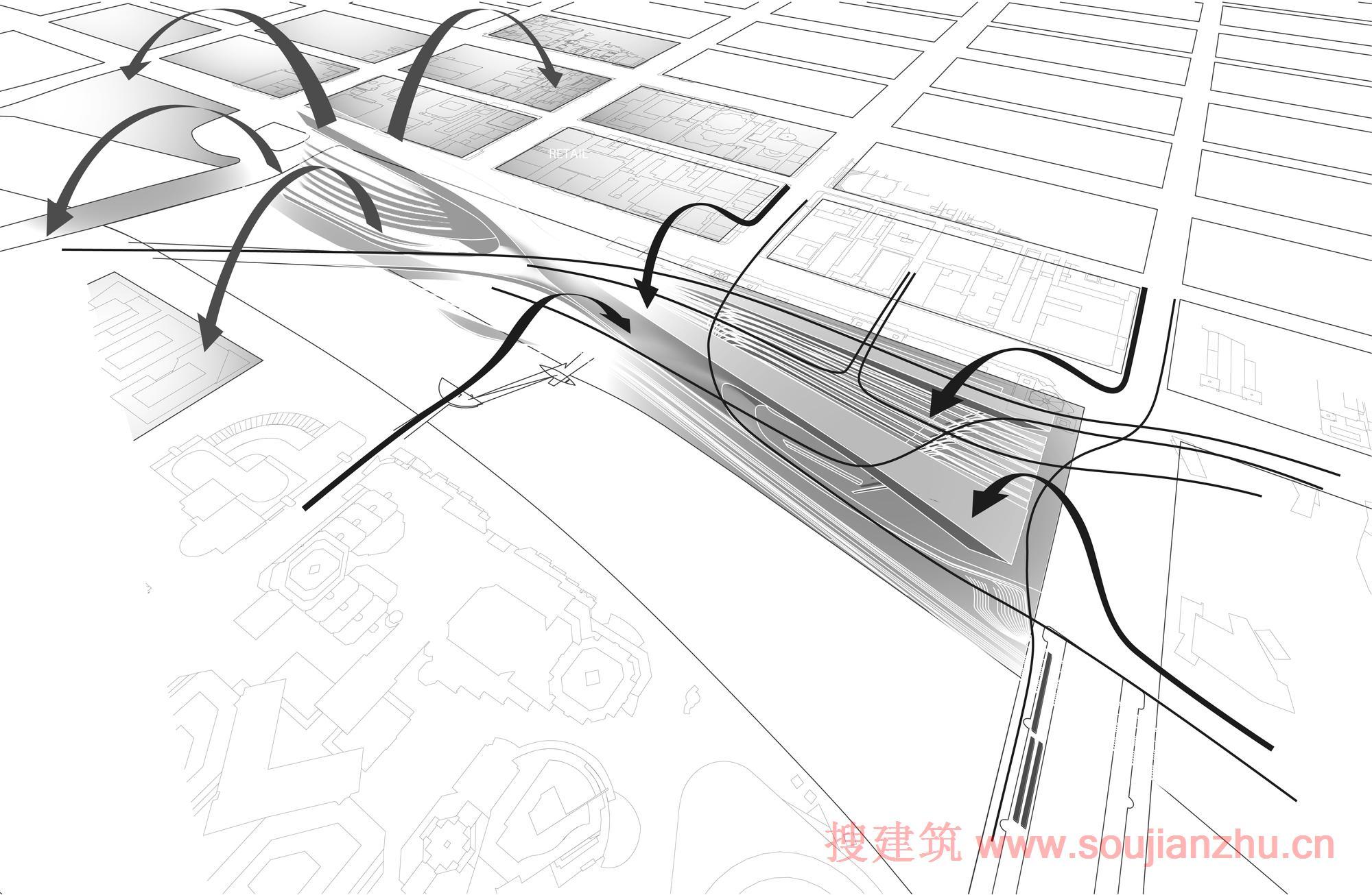 墨尔本·弗林德斯街火车站---zaha hadid architecture & bvn archite