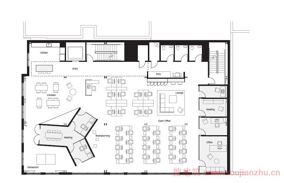 美国·fine办公室室内设计---boora architects