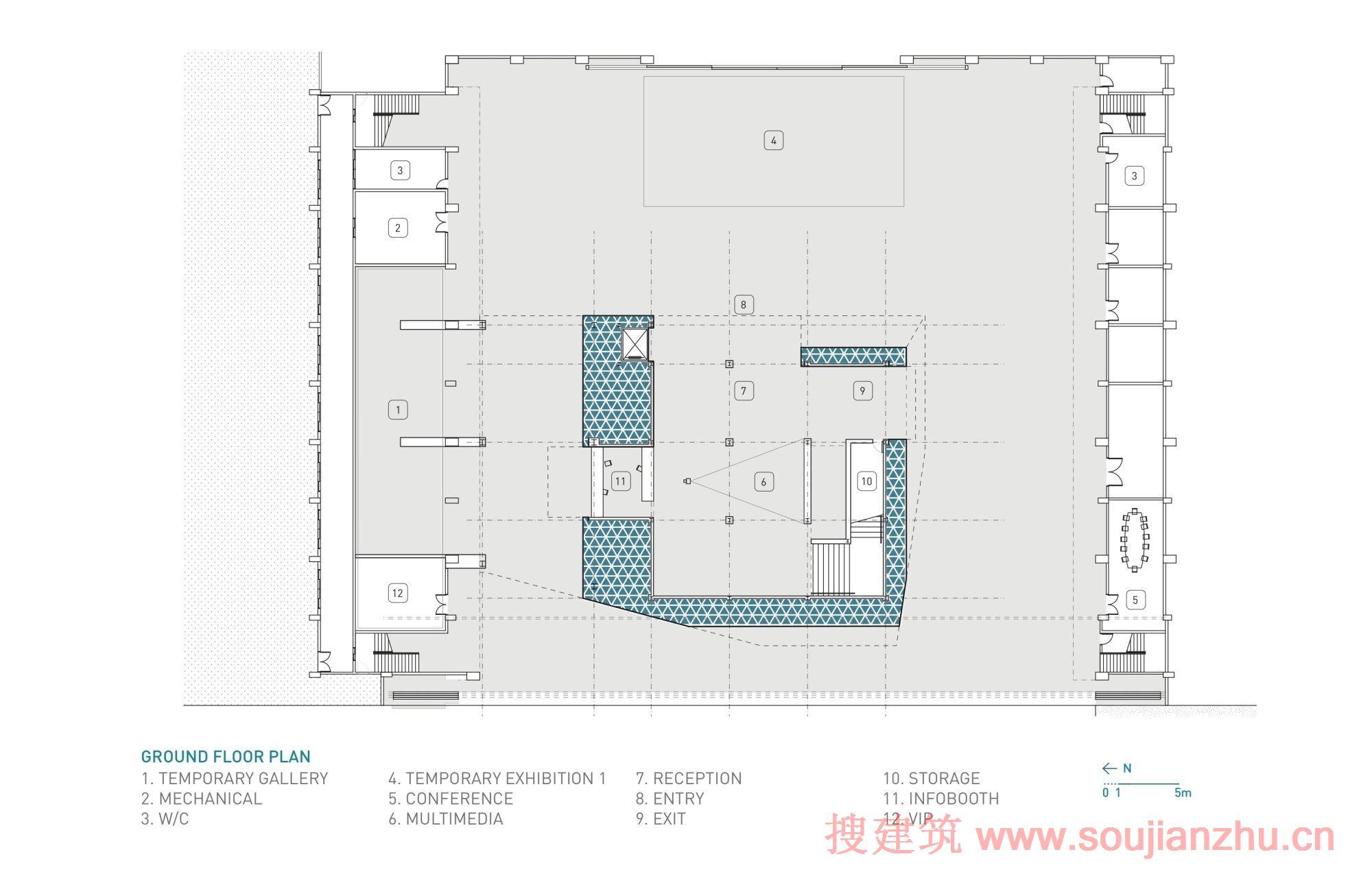 建筑师:Stan Allen Architect 地点:台湾 台中   2009年,Stan Allen Architect完成了台中网关的总体规划,一个位于台中市机场的240公顷的混合使用地区。为了提高项目意识,将市民带到这个壮观的场地,设计师提出了直接建建筑--临时展览亭,来展览该场地和项目。展馆被建在一个大型飞机库内,为项目公园提供了一个了清晰的视野巨大。图纸、模型和计算机动画均在内部显示,同时一个高架瞭望露台为大众提供了一个施工进度的视觉。 (本资料由搜建筑网整理,转载请注明出处。)