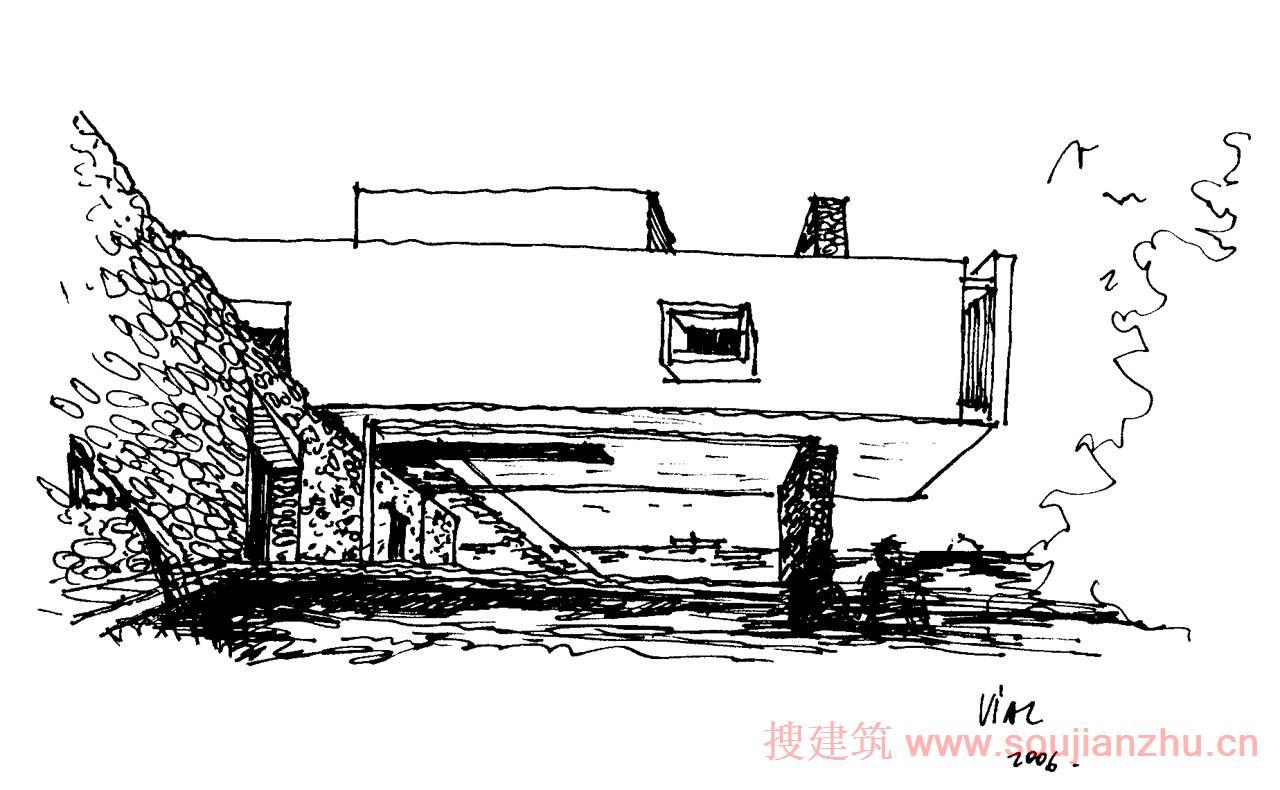 建筑師:Ivan Vial Montero 地點:智利 瓦爾帕萊索大區 面積:349.47平方米 年份:2007 材料:鋼筋混凝土,石材 該項目位于一個斜坡上,向西俯瞰太平洋。該項目作為一個兩層高的立方了望臺。設計師釋放西面最大的的土地區域和優越的觀海風景。該體量還包含北面的泳池,免受海風吹。