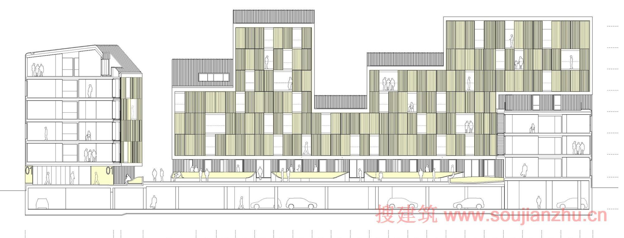 建筑基础部分手绘图