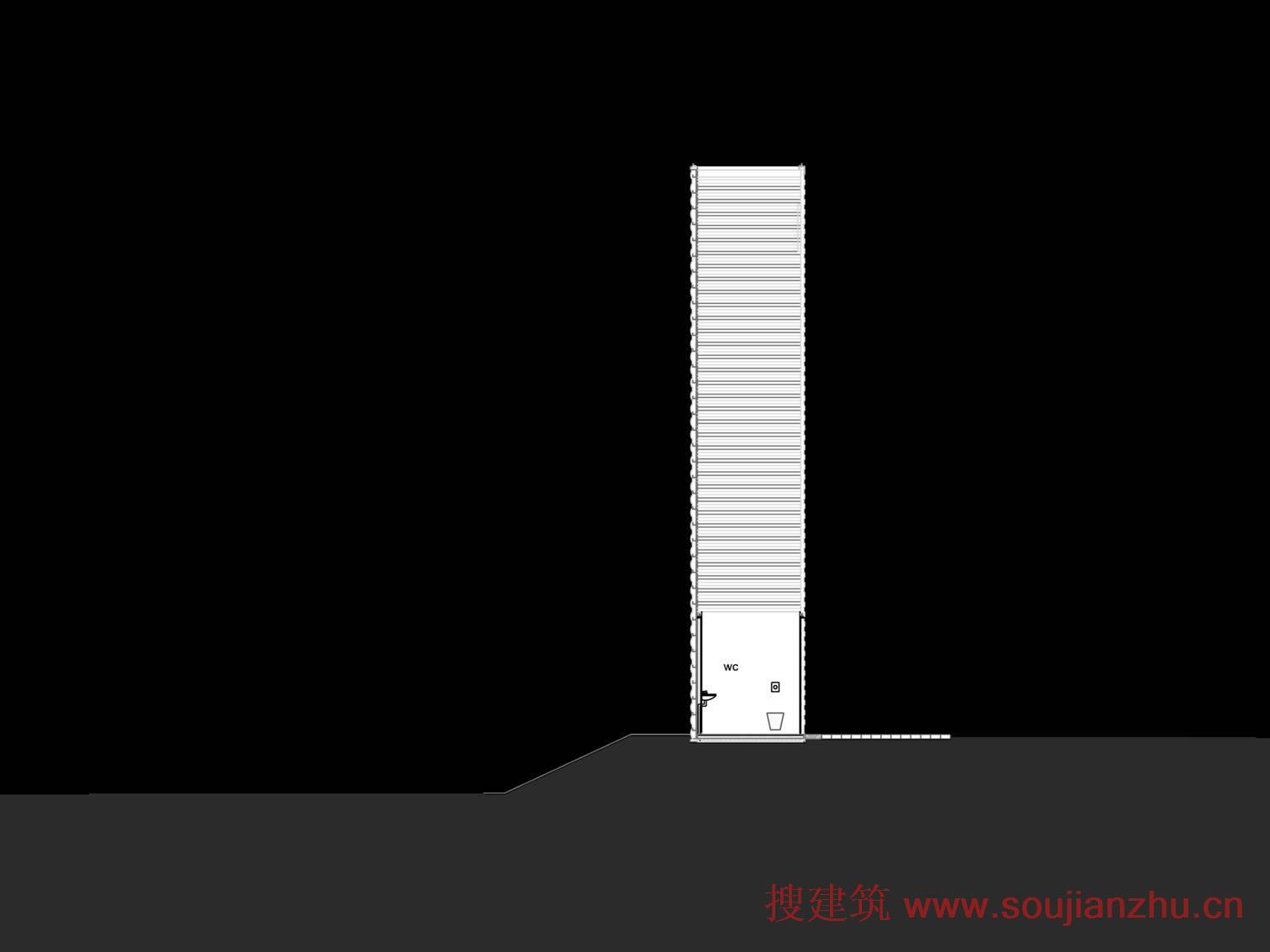 公交站建筑矢量图