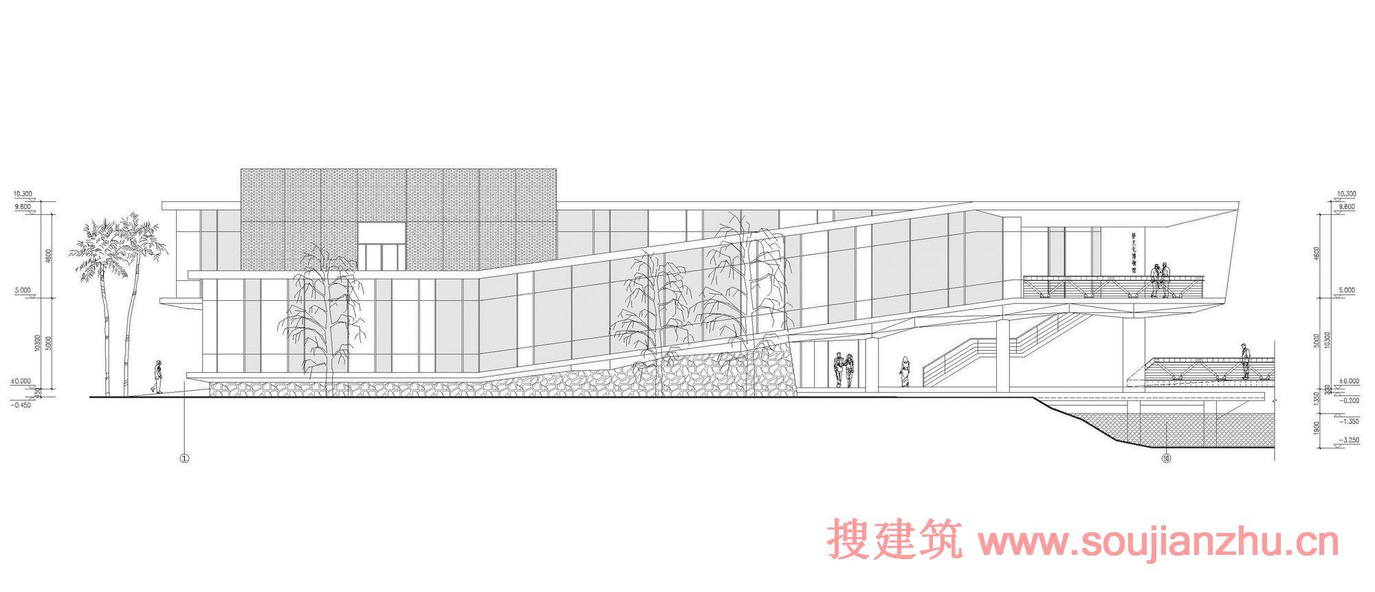 建筑师:三磊建筑设计有限公司 地点:天津 面积:2220平方米 三磊介入设计时,天津乔园桥文化博物馆主体结构已完成时。须在原有的结构基础上进行设计调整,重构建筑轮廓。我们将它设计为一个散步建筑,随着人们行走的路线周围是充满变幻的风景。大楼的布局和建设符合土地的性质,从而反映现有的景观。游客可以自由流动,通过中央钢桥到达博物馆和建筑融成一个森林的氛围。 16根构造柱的设计处理量通过多种方式,这在一定程度上改善结构性能,降低结构重量。博物馆是一个焦点适应其周围环境,包括它的折线结构、形围合空间、