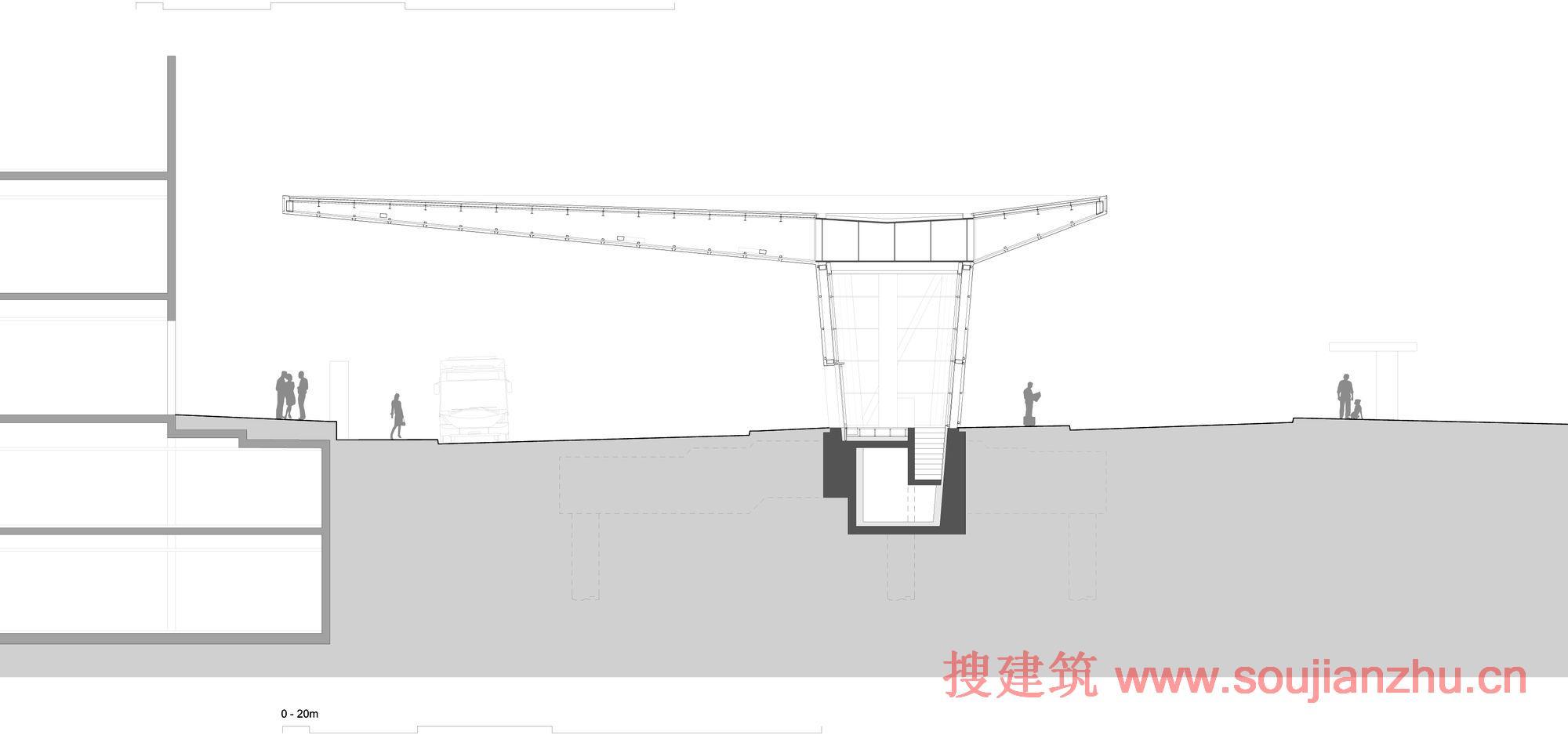 这个小儿精确的屋顶结构带来一个新的城市空间组织