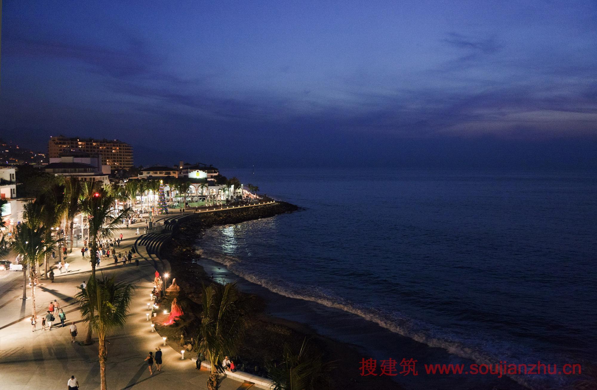 搜建筑网 墨西哥 183 巴亚尔塔港海滨景观 Trama Arquitectos