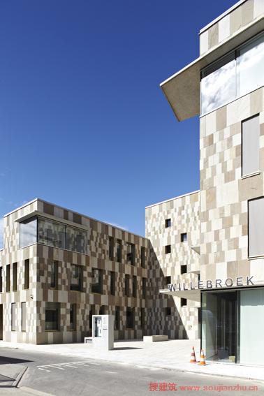 酒店管理月工作计划_搜建筑网 -- 比利时·Willebroek政府大楼---BRUT