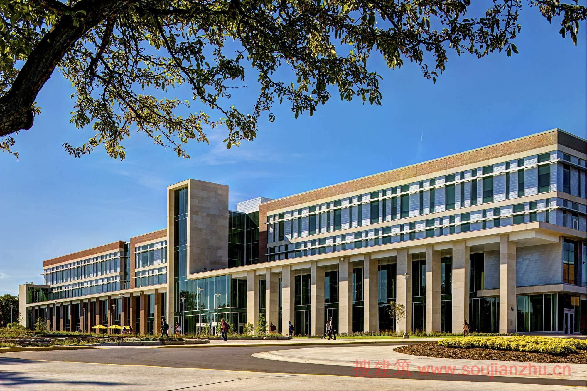 2013建筑面积规范_搜建筑网 -- 美国·Sangren校园大厅---SHW Group