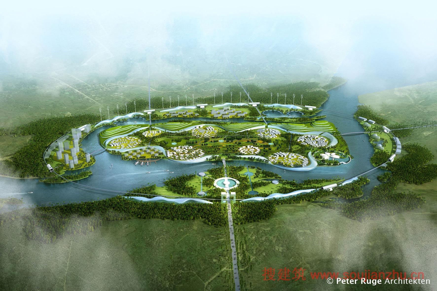挣钱网_搜建筑网 -- 海南·绿色健康城方案--- Peter Ruge Architekten