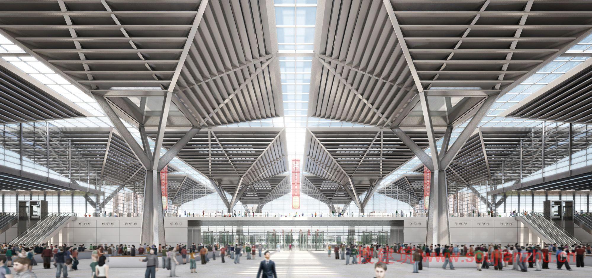 2013建筑面积规范_搜建筑网 -- 天津·国家会展中心获胜方案---gmp Architekten