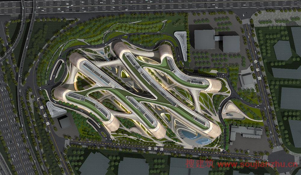 搜建筑网 上海 183 凌空soho Zaha Hadid Architects