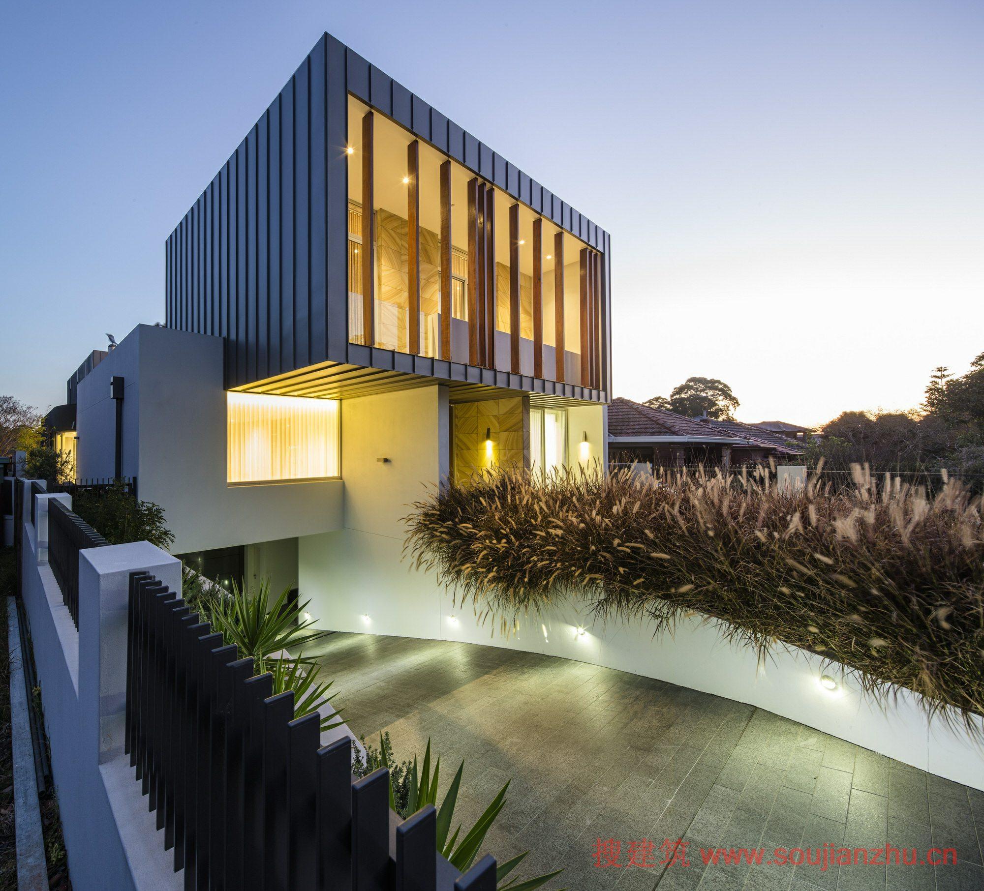 澳大利亚别墅毛坯---zoukarchitects家坪盒子别墅花图片