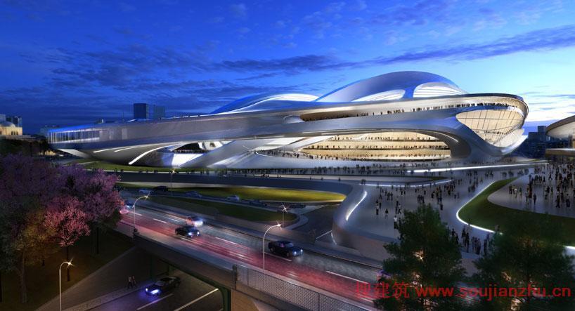 日本·东京2020年奥运会体育场---扎哈