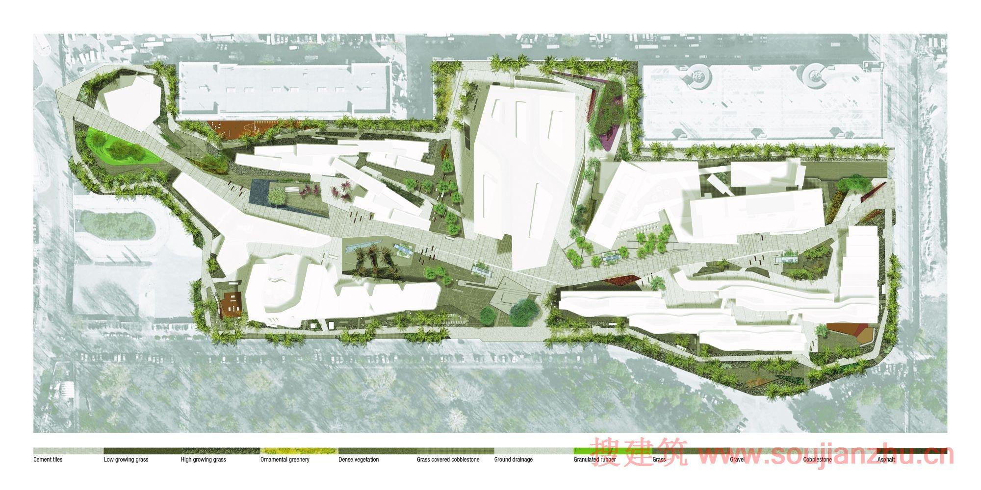 学院广场设计图手绘图