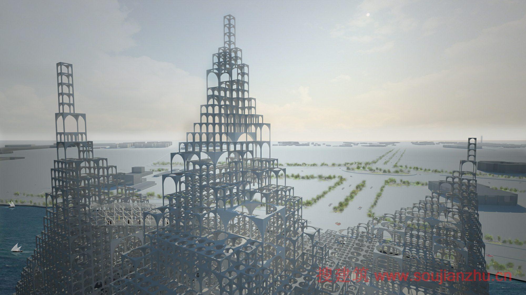 搜建筑网 -- 瞭望塔总体规划---sou fujimoto