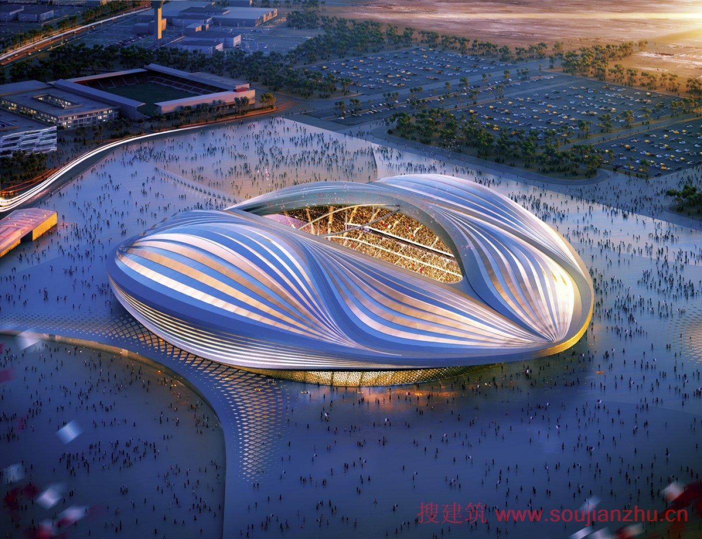 zaha hadid建筑师,联合aecom设计了五个体育场馆