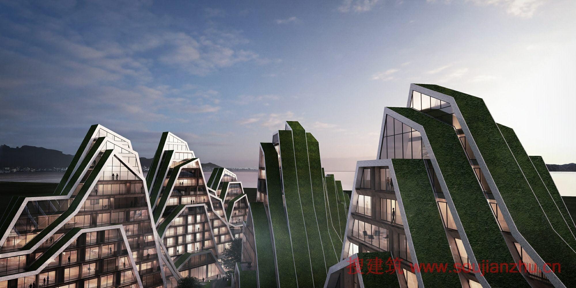 规划公建建筑面积_搜建筑网 -- 台湾·花莲住宅---BIG