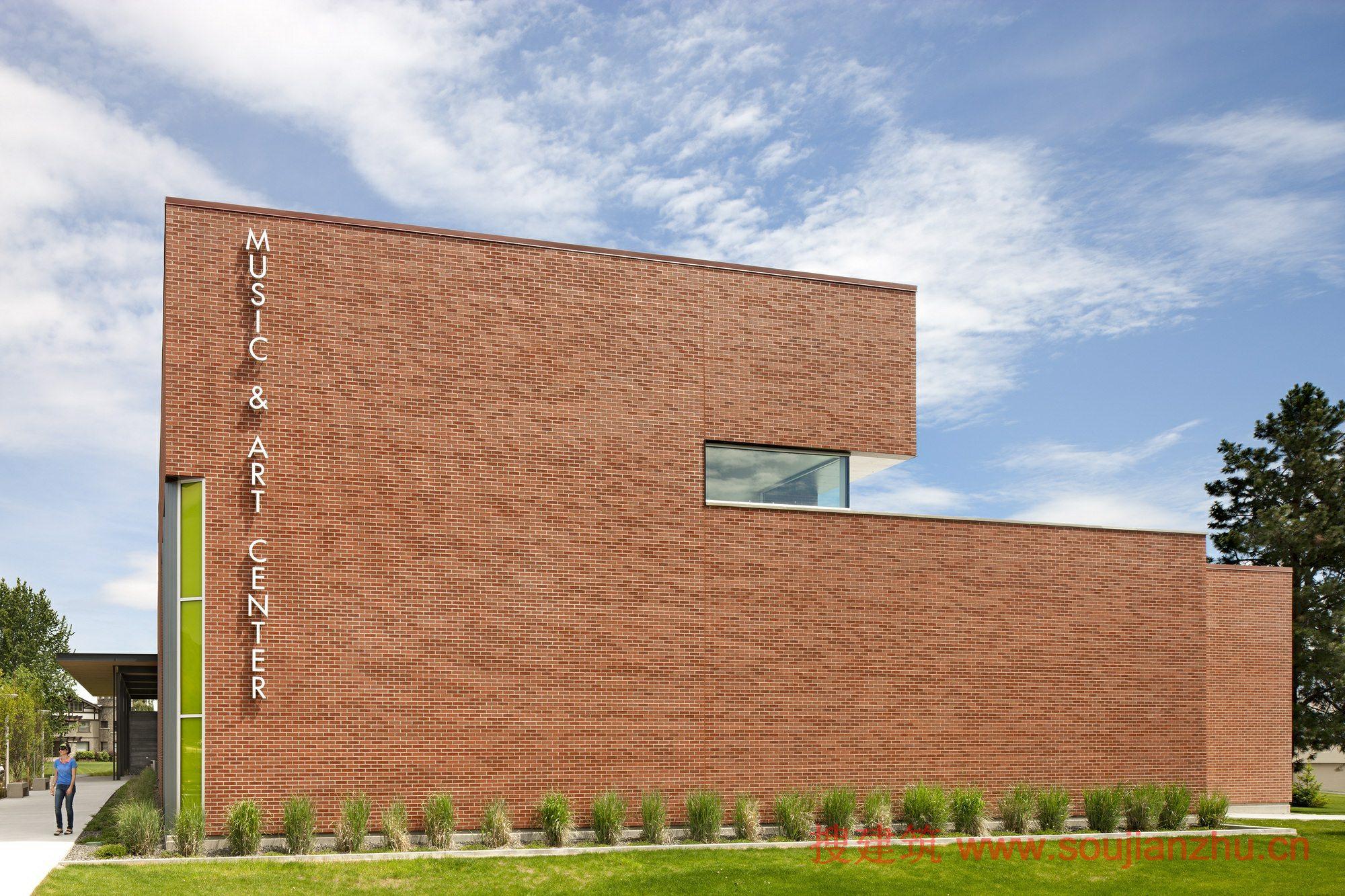 美国·韦纳奇山谷学院音乐和艺术中心---integrus architecture