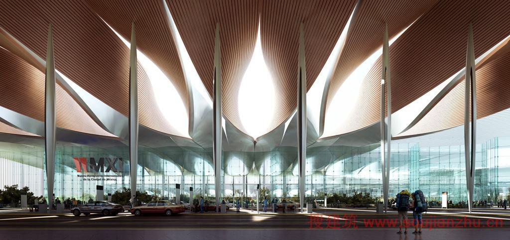 搜建筑网 -- 墨西哥·新墨西哥机场方案设计---sordo