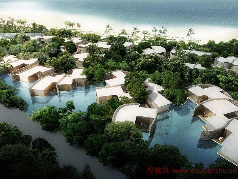 海南三亚西岛本土化的旅游度假村