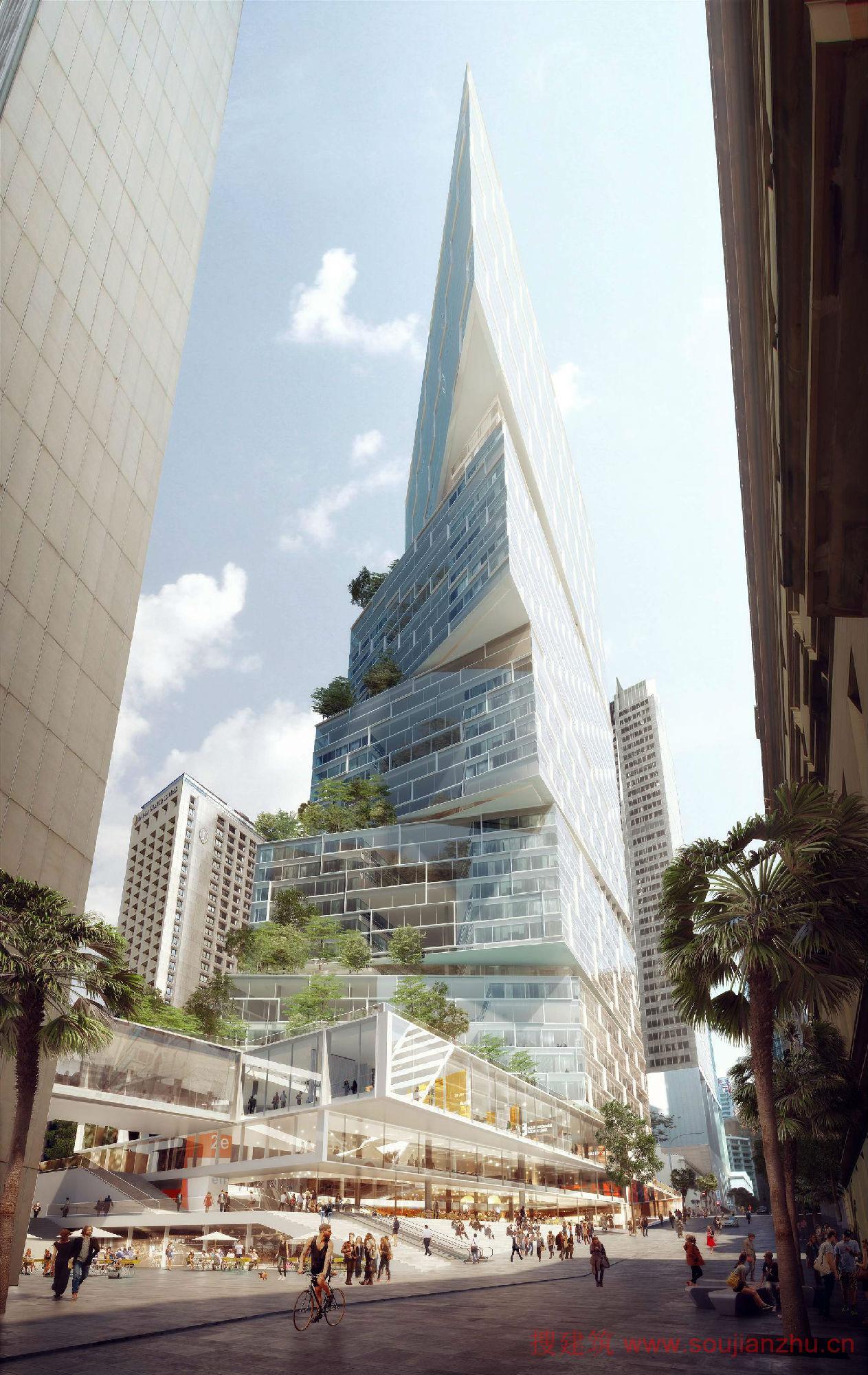 挣钱网_搜建筑网 -- 澳大利亚·悉尼200米高的塔---3XN